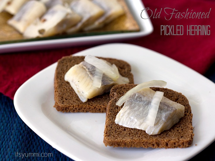 Old Fashioned Pickled Herring will bring you good luck if eaten on New Year's Day! Get the recipe from ItsYummi.com