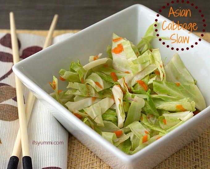 Asian Cabbage Slaw from ItsYummi.com