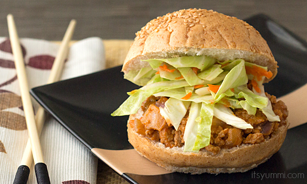 Asian Sloppy Joes with Cabbage Slaw