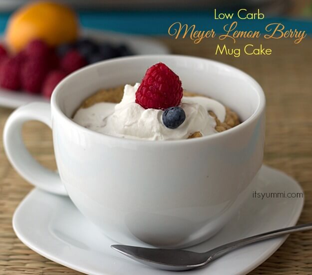 Low Carb Meyer Lemon Berry Mug Cake Recipe from www.itsyummi.com