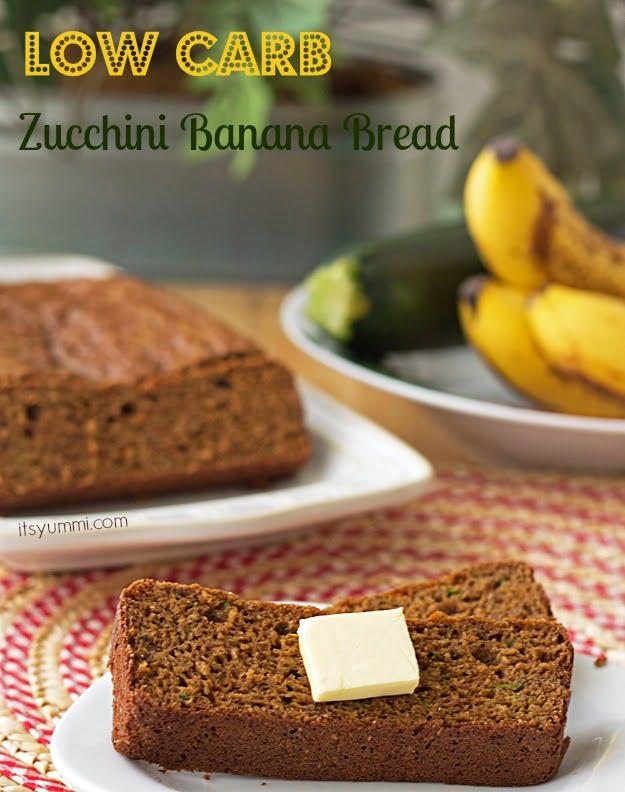 Low Carb Zucchini Banana Bread from ItsYummi.com
