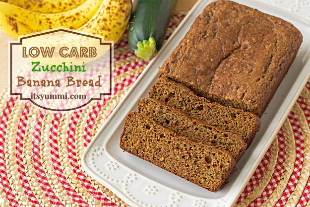 Low Carb Zucchini Banana Bread from ItsYummi.com #lowcarb #snack #healthy
