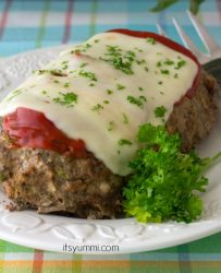 low carb meatloaf made in a slow cooker