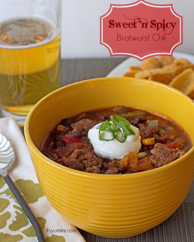 Sweet and Spicy Bratwurst Chili | It's Yummi