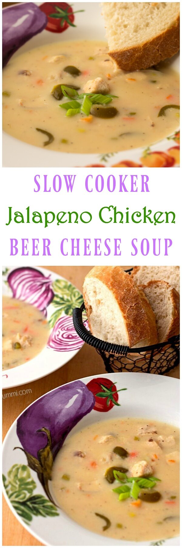 Jalapeno Chicken Beer Cheese soup is made right in your slow cooker, Instant Pot, multicooker, or Crock Pot. It'll warm you up on the coldest of days! | ItsYummi.com