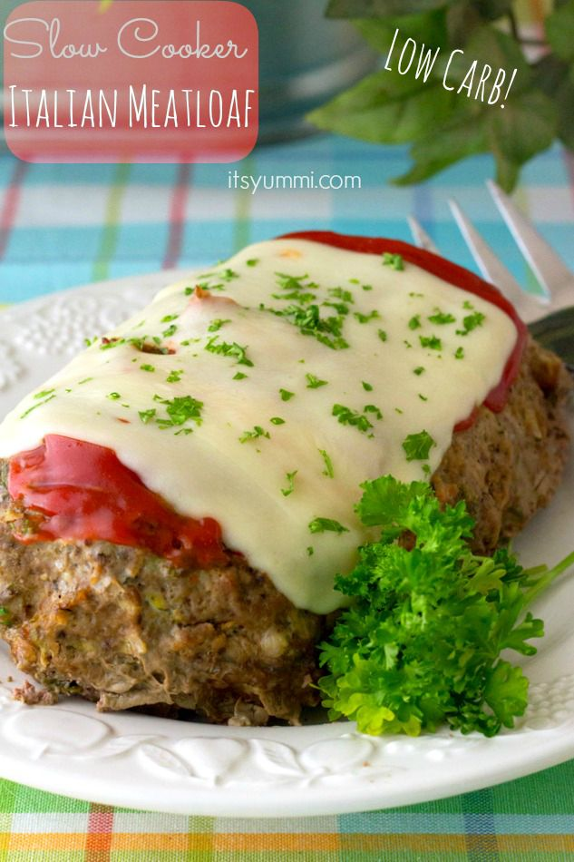 Slow Cooker Low Carb Meatloaf Recipe, from @itsyummi - This low carb recipe uses zucchini instead of bread crumbs to make it a low carb dinner that tastes just like the comfort food you grew up eating.