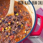 Bison & Black Bean Chili from ItsYummi - lean and loaded with flavor! #SundaySupper