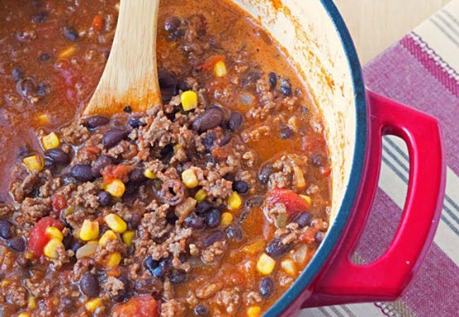 Bison Black Bean Chili Recipe {Healthy Dinner Recipes} ~ Its Yummi