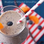Blueberry Almond Smoothie from ItsYummi NO ADDED SUGAR, and SO delicious!