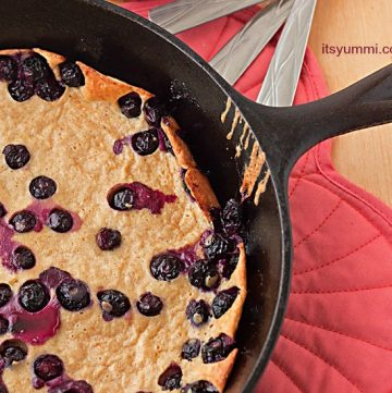 Blueberry Yogurt Dutch Baby Pancake from ItsYummi.com