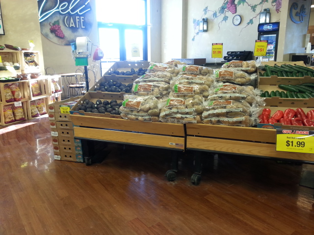 Potato display at Pick 'n Save in Appleton, Wisconsin #MyPicknSave #shop