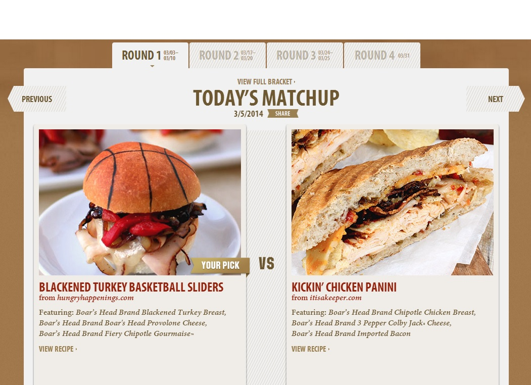 A Sandwich Slam Dunk ~ Boar's Head Boldest Bracket Challenge