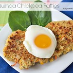 Healthy Recipe ~ Quinoa Chickpea Patties from ItsYummi.com - A vegetarian and gluten free recipe!