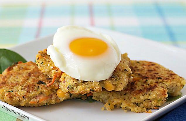 Healthy Recipe ~ Quinoa Chickpea Patties from ItsYummi.com