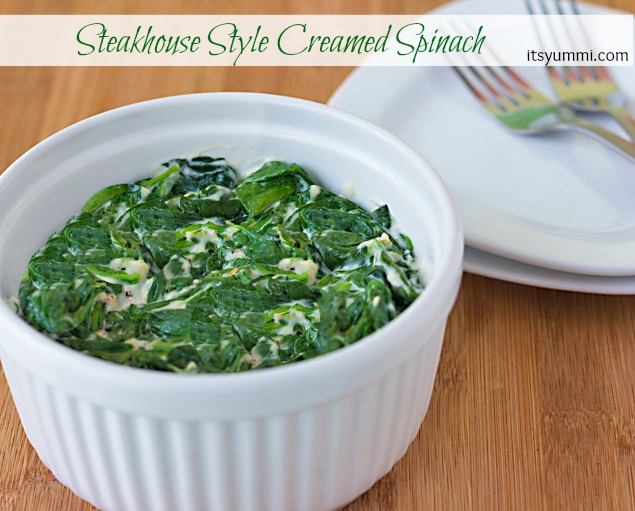 Recipe for Steakhouse Style Creamed Spinach