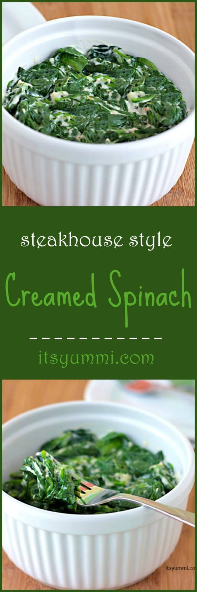 Steakhouse Style Creamed Spinach Recipe - Just like they serve at the fancy steakhouses. AND it's low carb! Get the recipe from @itsyummi