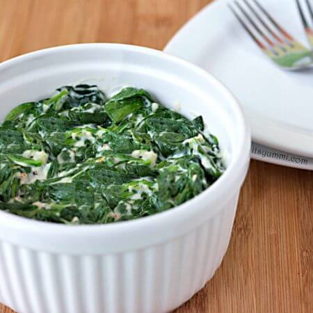 Steakhouse Style Creamed Spinach