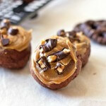 Chocolate Peanut Butter Pretzel Doughnuts Recipe, from itsyummi.com