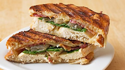 Grilled Chicken Bacon Onion Panini Sandwich Its Yummi