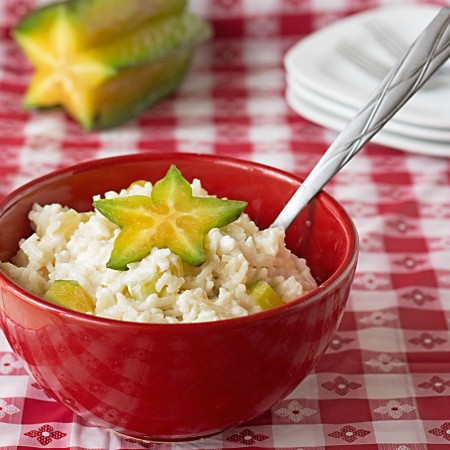 Fruited Jasmine Rice Salad #recipe from ItsYummi.com ~ Just 5 ingredients! #SundaySupper