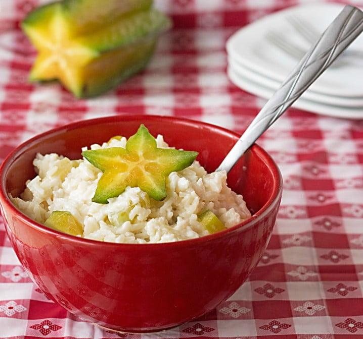 Fruited Jasmine Rice Salad #recipe from ItsYummi.com ~ Just 5 ingredients! #vegetarian
