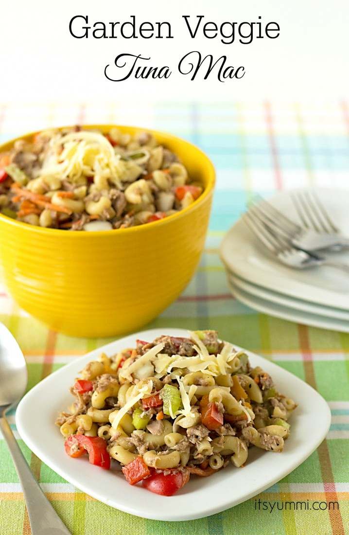 Garden Veggie Tuna Mac from ItsYummi.com