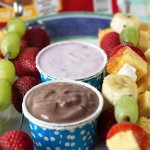 Lemon Pound Cake Kebabs with Chocolate and Blueberry Yogurt Dips from ItsYummi.com