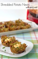 Cheesy Hash Brown Potato Nests