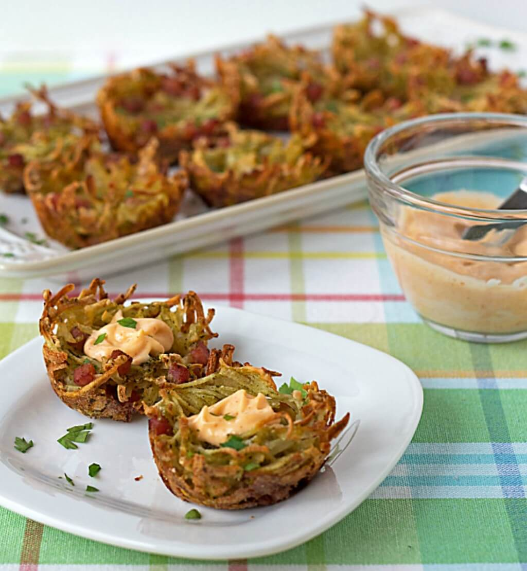 Easy Cheesy Hash Brown Potato Nests