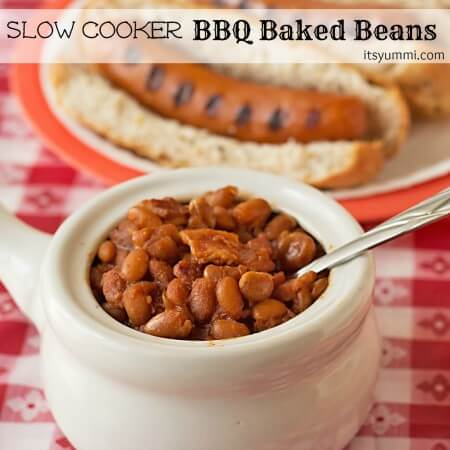 Slow Cooker BBQ Baked Beans from ItsYummi.com #StartYourGrill #shop