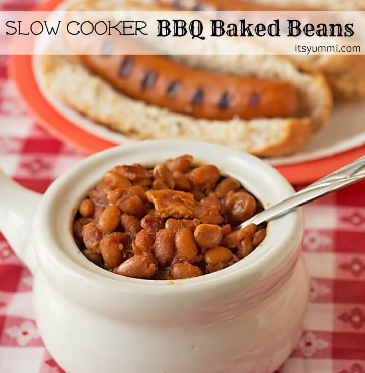 Slow Cooker BBQ Baked Beans and Chicago Style