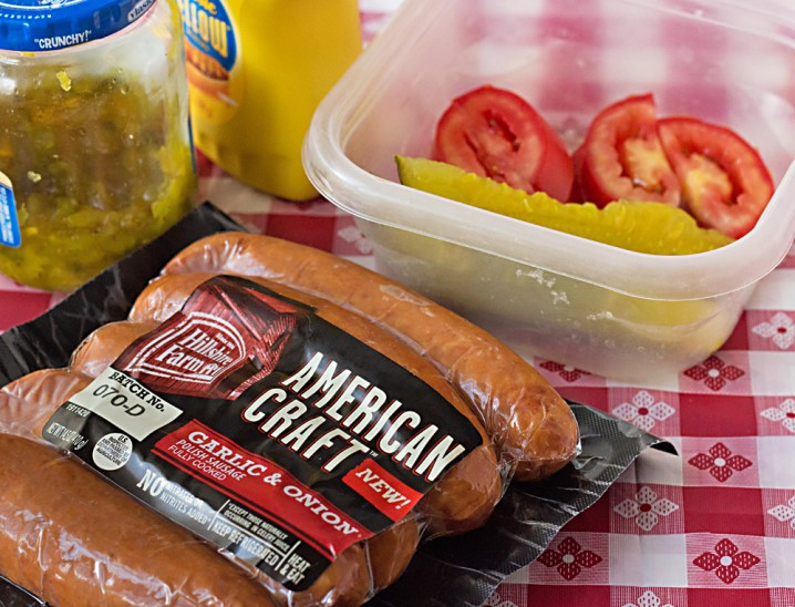 American Craft Garlic and Onion Sausages, from Hillshire Farm