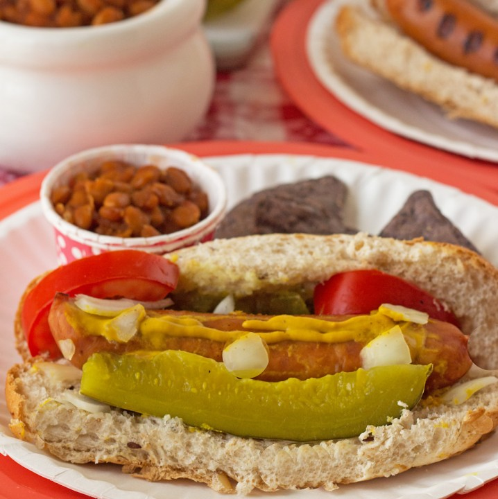Slow Cooker BBQ Baked Beans and Chicago Style #AmericanCraft Sausage Recipes #StartYourGrill #shop