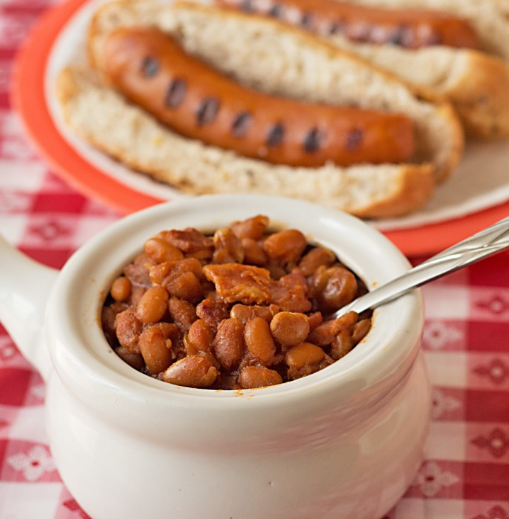 Slow Cooker BBQ Baked Beans and Sausage Recipes from ItsYummi.com