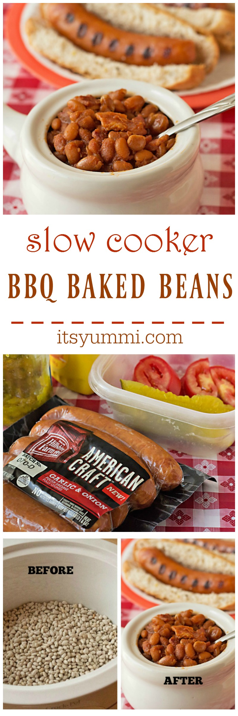Try this easy slow cooker BBQ baked beans recipe as a great side dish for summer parties and outdoor entertaining. Baked beans made from scratch using dried beans.