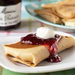 Cheese Blintzes with Mixed Berries #recipe from ItsYummi.com for #Brunchweek