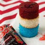Firecracker Cupcake Recipe from ItsYummi.com ~ These cupcakes are SO cute! They're loaded with Pop Rocks candy for an explosion of fun!