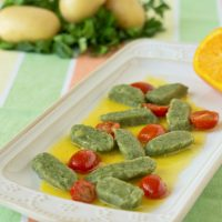 Green Tea Gnocchi with Orange Butter Sauce from ItsYummi.com