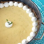Key lime cheesecake with a hazelnut crust from ItsYummi.com