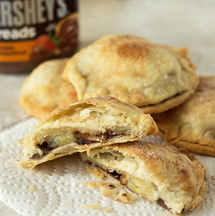 Nutty Chocolate Banana Hand Pies from ItsYummi.com ~ These are unbelievably quick and easy to make! #shop