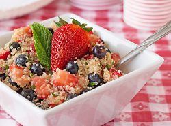 Patriotic Quinoa Fruit Salad from ItsYummi.com