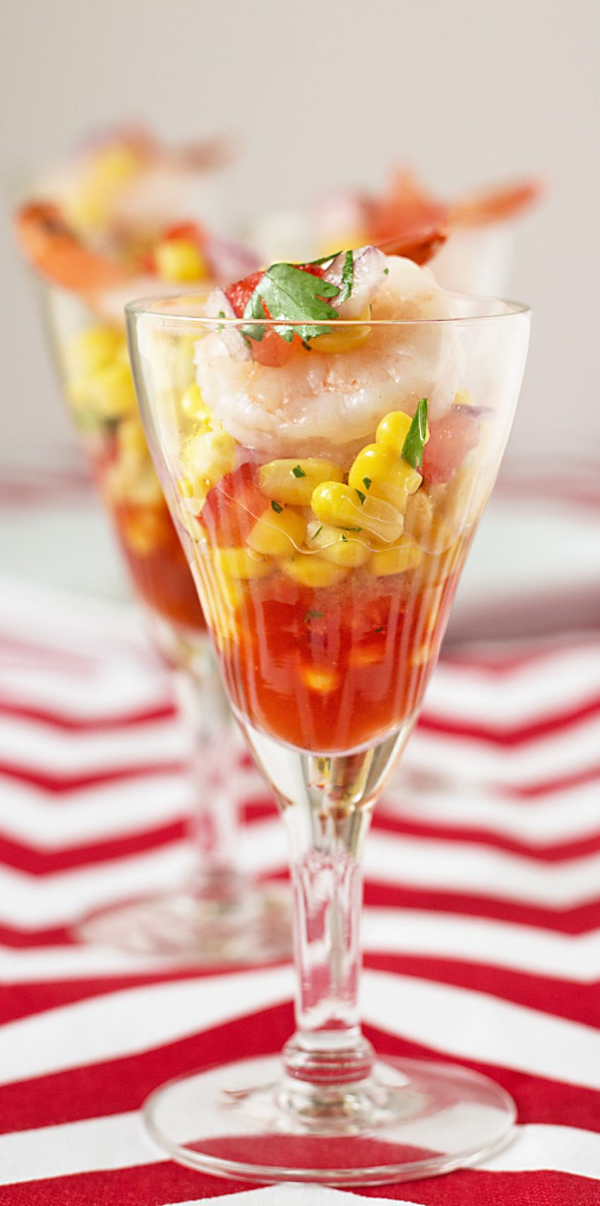 shrimp cocktail with corn salsa