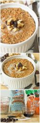 Carrot Cake Steel Cut Oatmeal - Breakfast oatmeal that tastes like carrot cake?! Oh YES, please! Healthy and so good! | itsyummi.com
