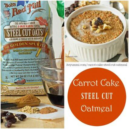 Carrot Cake Steel Cut Oatmeal - Breakfast oatmeal that tastes like carrot cake?! Oh YES, please! Healthy and so good!   itsyummi.com