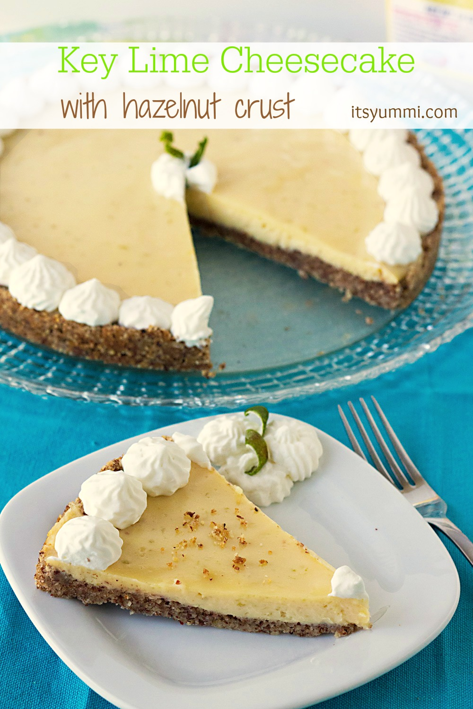 Key Lime Cheesecake with a Hazelnut Crust from ItsYummi.comm #Brunchweek 2014