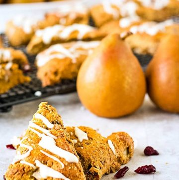 cranberry and pear easy scones recipe image