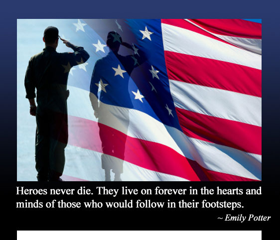 To all those who have served America, now or in the past... THANK YOU and Happy Memorial Day!