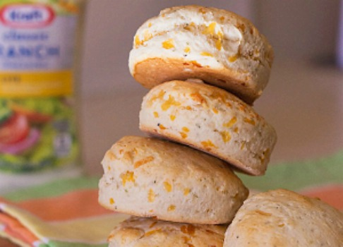 Cheesy ranch biscuits ~ recipe from ItsYummi.com #FoodDeservesDelicious #shop