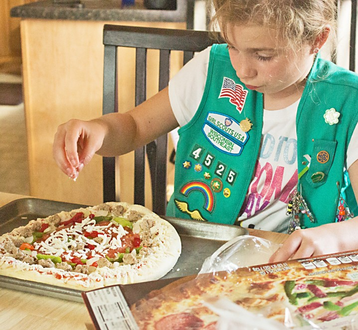 If you've got picky eaters in your life, have a pizza party with DiGiorno Design-A-Pizza kits! Each slice is customized with their favorite toppings!