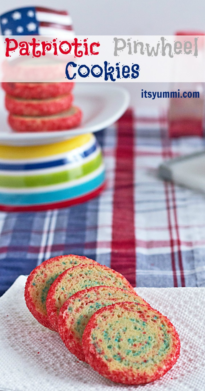 Patriotic Pinwheel Cookies Recipe from @itsyummi